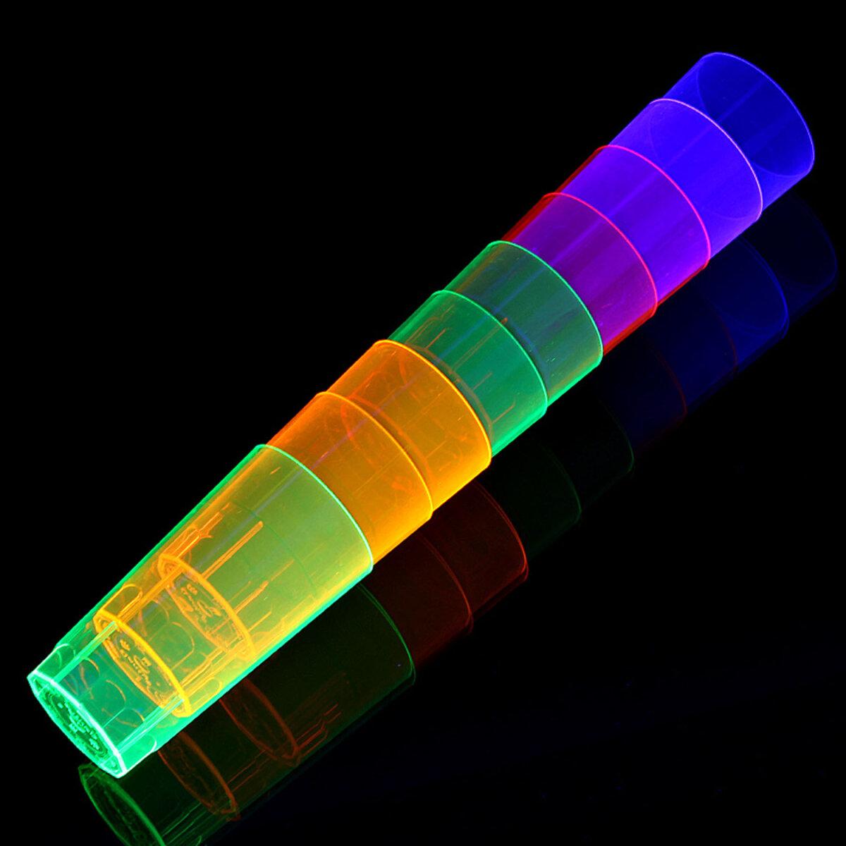 UV Neon Longdrink Glas Knicklichter kaufen