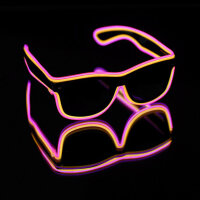 BLINXS EL Neon-Brille DOUBLE in Gelb-Pink