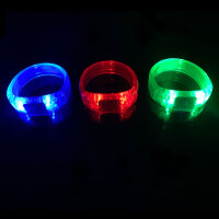 24er Set - BLINXS LED Panzer Armband im 3 Farb-Mix