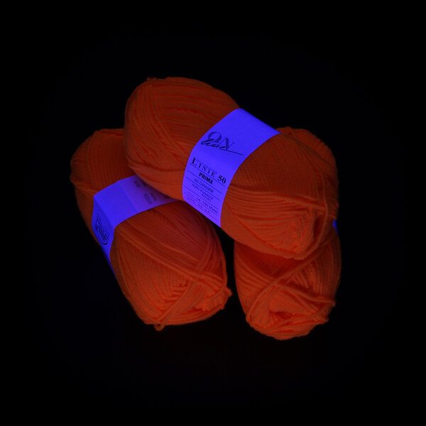 UV-Wolle Orange