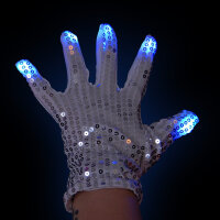 BLINXS LED Pailletten-Handschuh Funkel Finger - Rechts