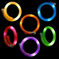 6er Set - BLINXS LED Wickelarmband im 6-Farb-Mix