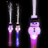 BLINXS LED Glasfaserlampe Bonbon Schneemann